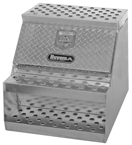 "Buyers Products Aluminum Step Truck Tool Box for T-Handle Latch #1705182 24""H x 28"" Dx 24""W"