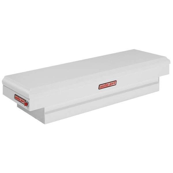 "Weather Guard Steel Compact Standard Saddle Box in white  #156-3-01 13.25"" H x 20.25"" W x 62"" L"