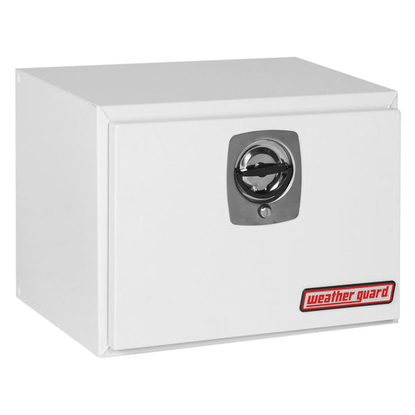 "Weather Guard Standard Underbed Truck Box in White Steel #524-3-02  18.125"" H x 18.25"" W x 24.125"" L"