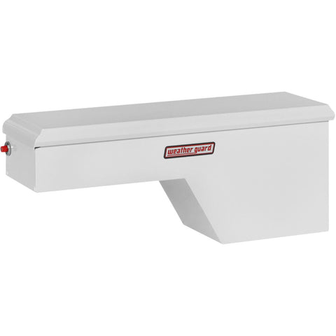 "Weather Guard Steel Passenger Side Full  Pork Chop Truck Box in White #163-3-01 19.15"" H x 13.125"" W x 46.25"" L"