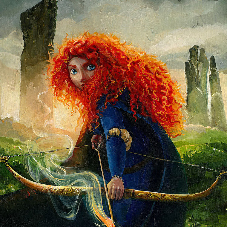 Merida holding her bow and arrow