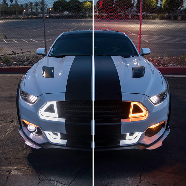 Upper Grille White DRL LED With Amber Turn Signal
