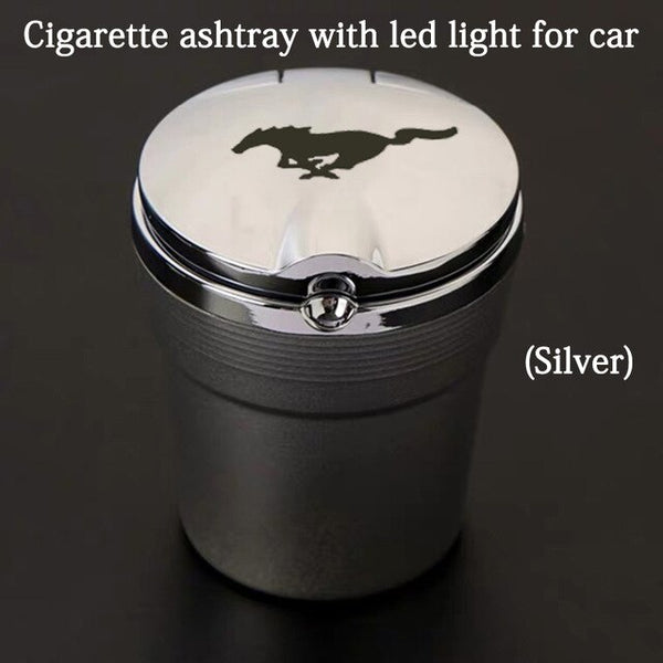 For ford mustang gt Led Lights Car Ashtray