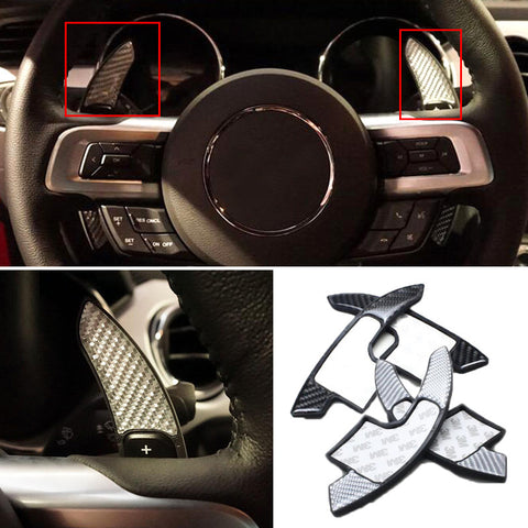 Carbon Fiber ABS ì Shift Paddle Shifter Extension For Mustang 2015+