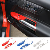 ABS Windows Lift Panel Decorative Cover Frame fit for Ford Mustang 2015 2016