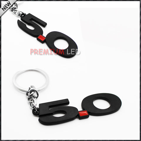 black number 5.0 KeyChain  Ford Mustang