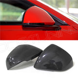 Ford Mustang  Carbon Fiber Rear View Mirror Cover Gloss Black Finish