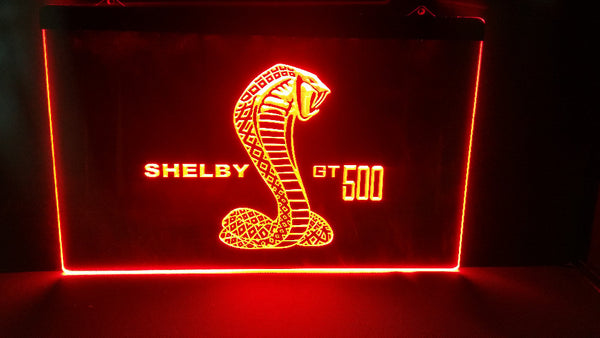 shelby gt500 2 size beer bar pub club 3d signs LED Neon Light