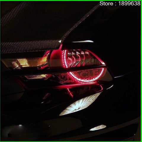 mustang 2010/2012 LED  headlight rings halo Multi-color RGB angel demon eyes