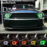 For Ford Mustang RGB LED headlight halo angel eyes kit 2005-2009
