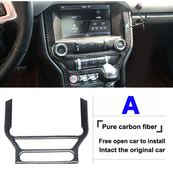 New for ford mustang carbon fiber car interior trim 2015-2016-2017