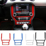 Panel Frame Dashboard Trim  Interior Accessories ABS For Ford Mustang 2015 16 17 Up Free Shipping