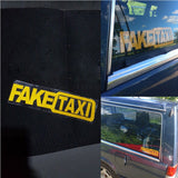 Car Sticker FAKE TAXI Vinyl Decal 20x5cm