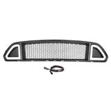 Front Grille Center Grill w/ LED Light Lamp for  Mustang 2015/2017 White /Green