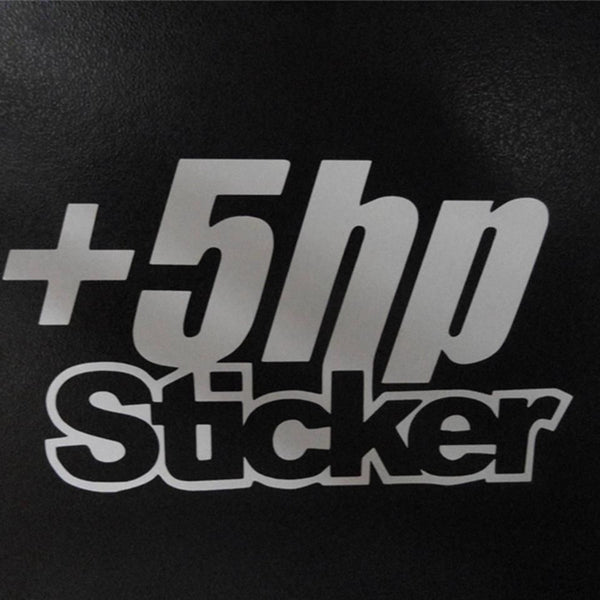 5+ HP HORESPOWER  WINDOW STICKER VINYL DECAL