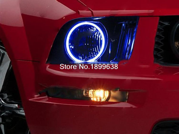 RGB Multi-Color SMD Headlight LED Angel Eyes Halo Rings Kit For 2005-2009 Mustang