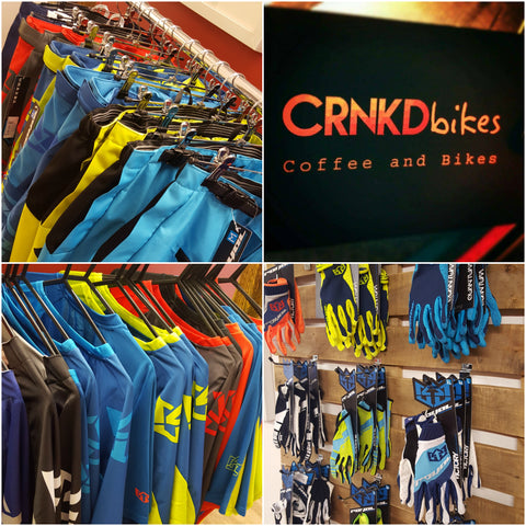 CRANKBURNER and Royal Racing Clothing at Cranked Bikes, Bodmin