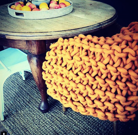 chunky extreme knit merino throw homewares