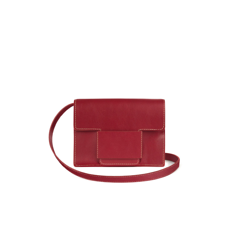 Convertible Belt Bag in Cherry Red