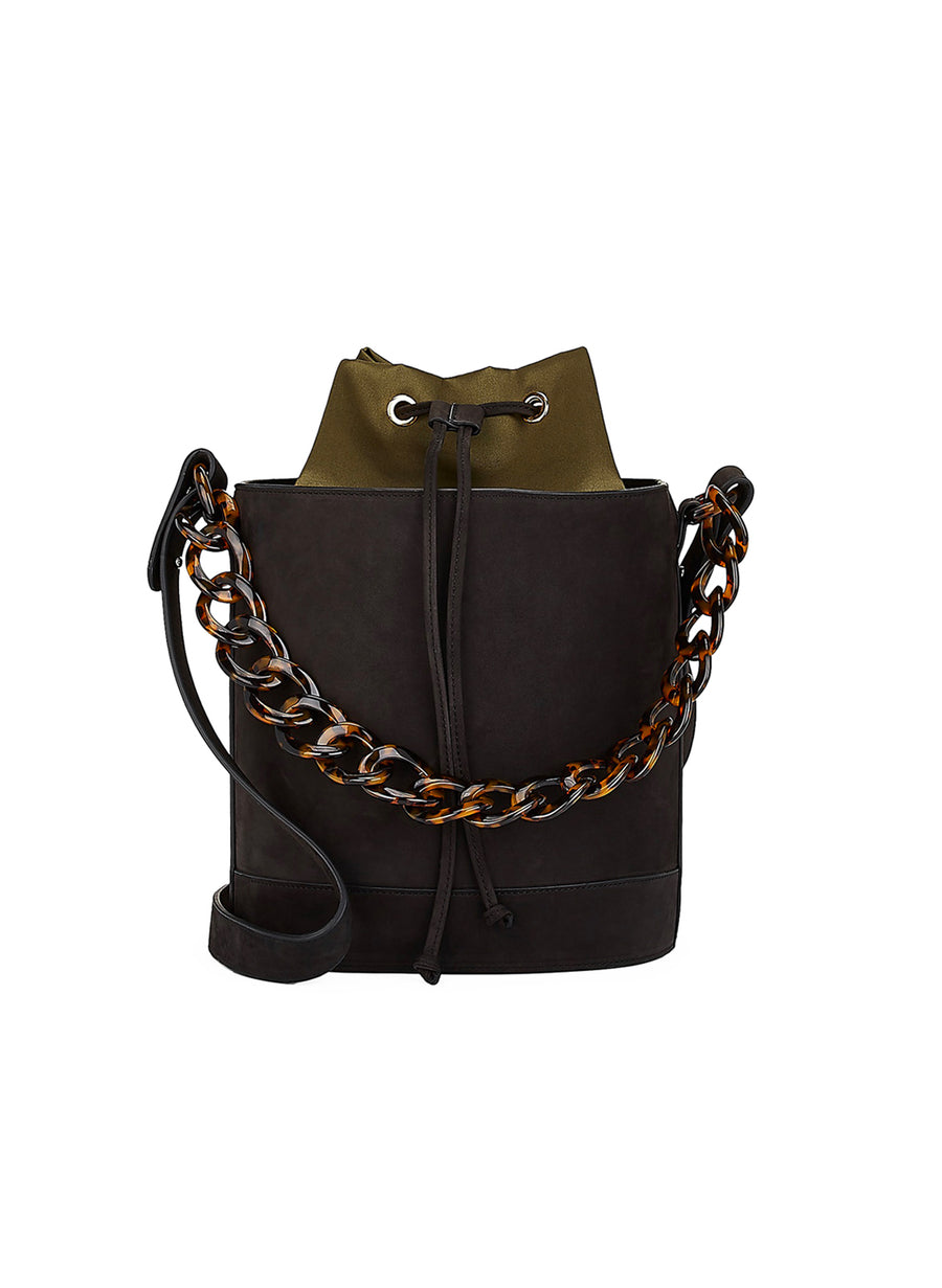 Bucket Bag in Black Nubuck - Last one!