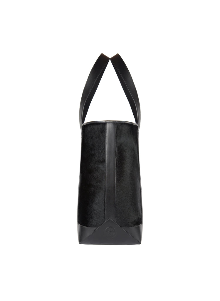 Large Tote in Black Calf Hair