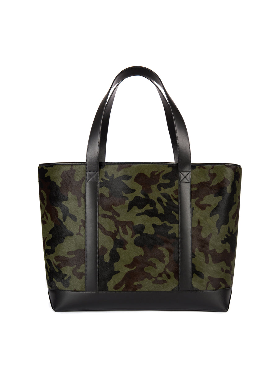 Large Tote in Camo Calf Hair