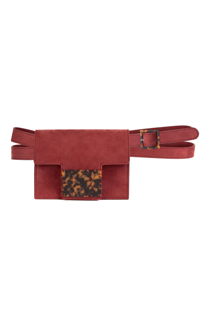 Convertible Belt Bag in Burgundy