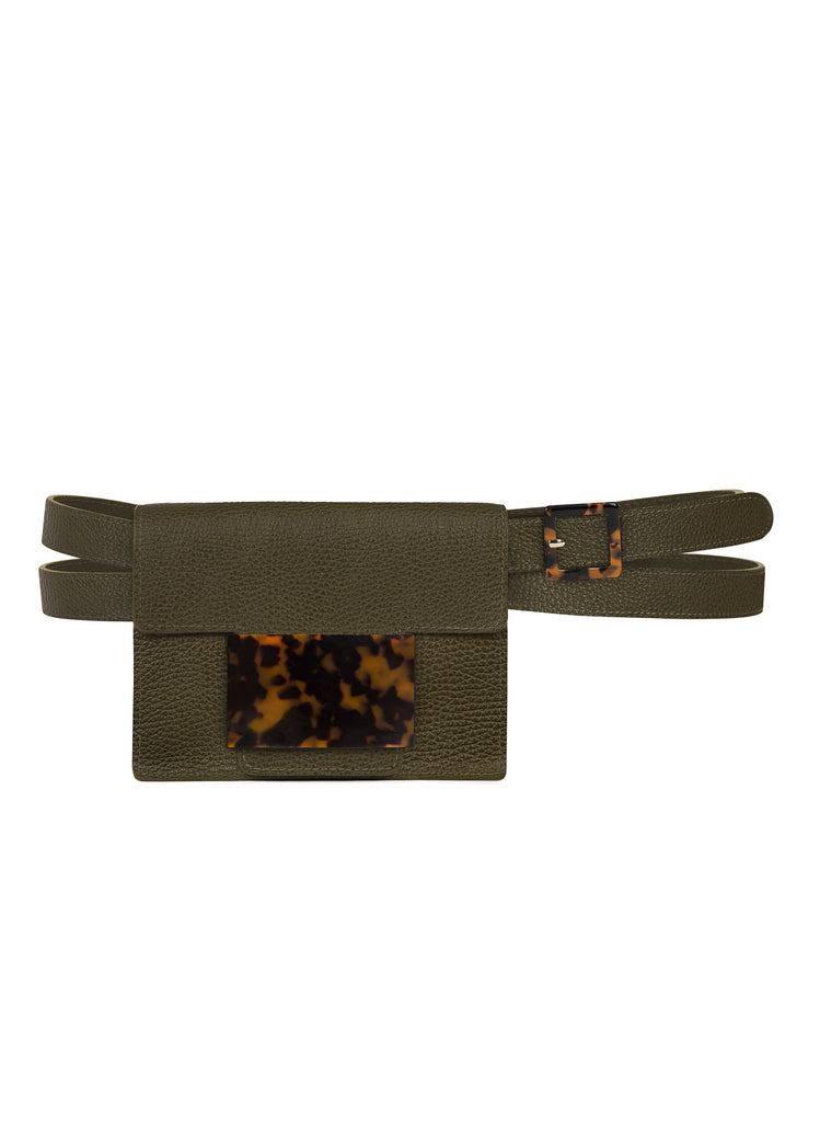Convertible Belt Bag in Army Green