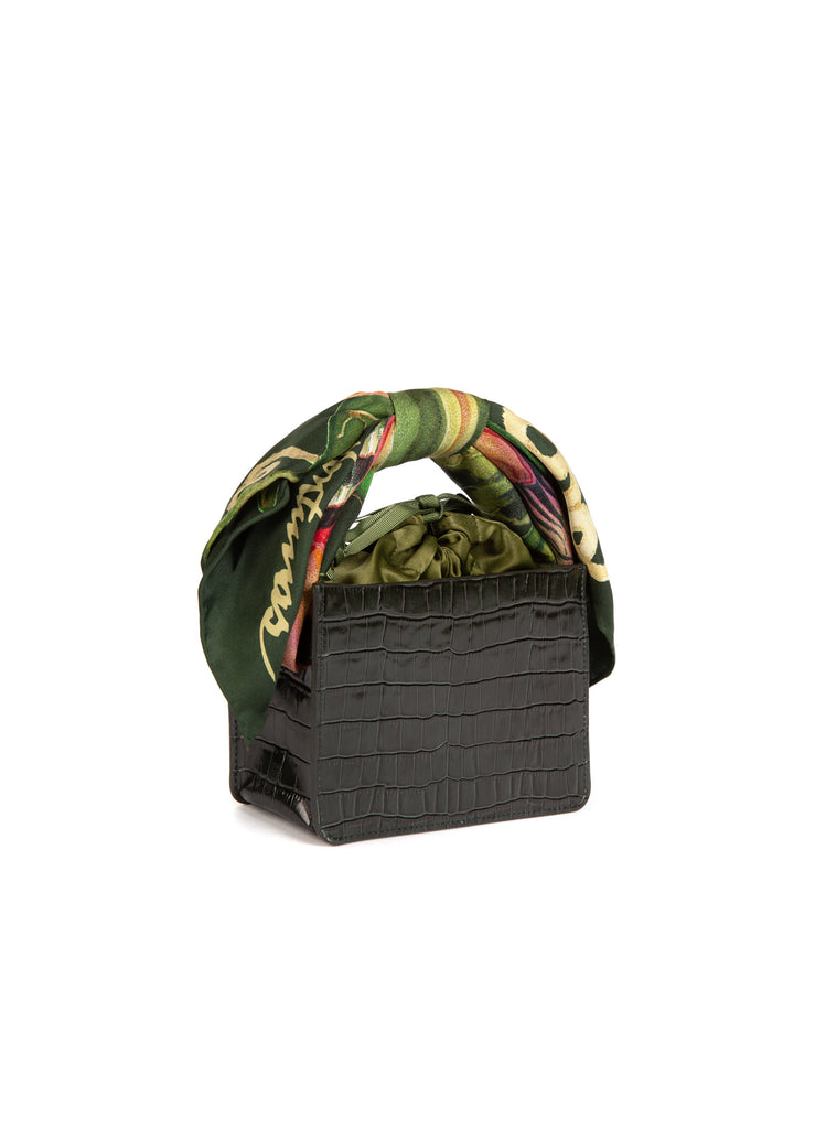 Forest Croc Mini Guaria with Scarf Handle