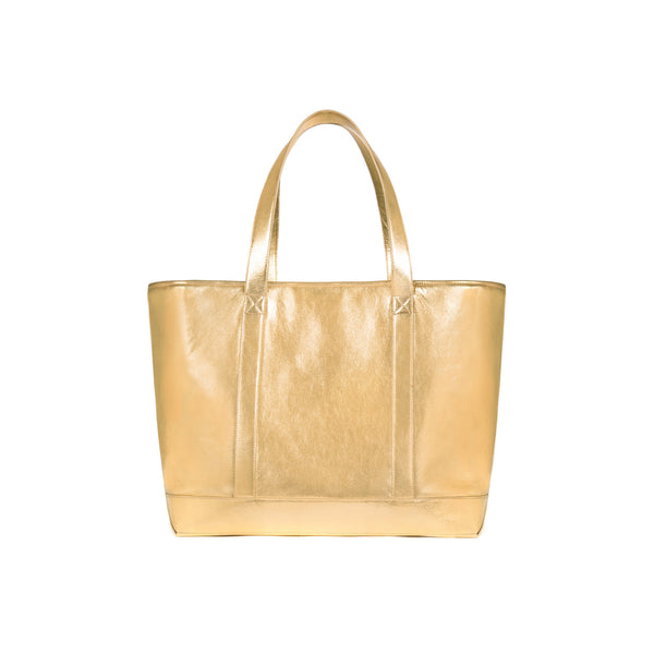 Large Tote in Gold