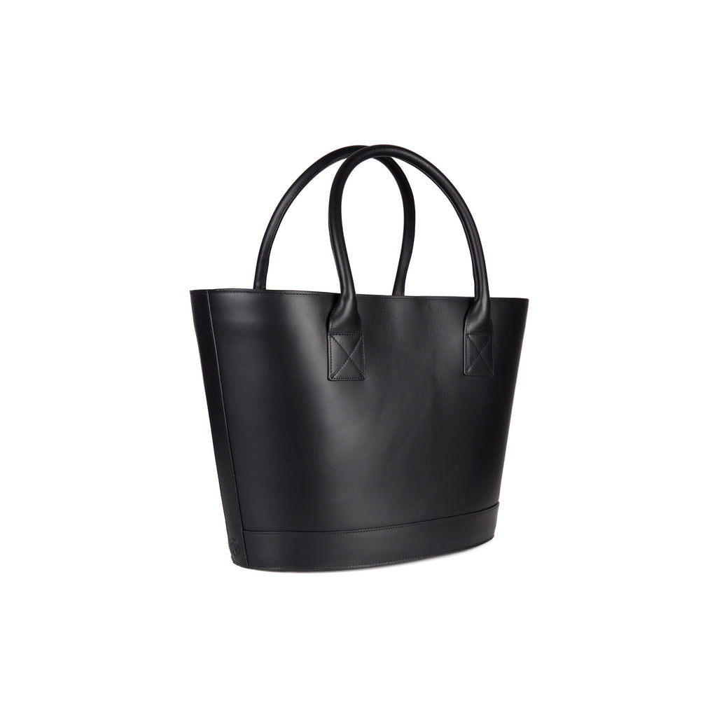 Classic Picnic Tote in Black with Montunas Rainforest Lining