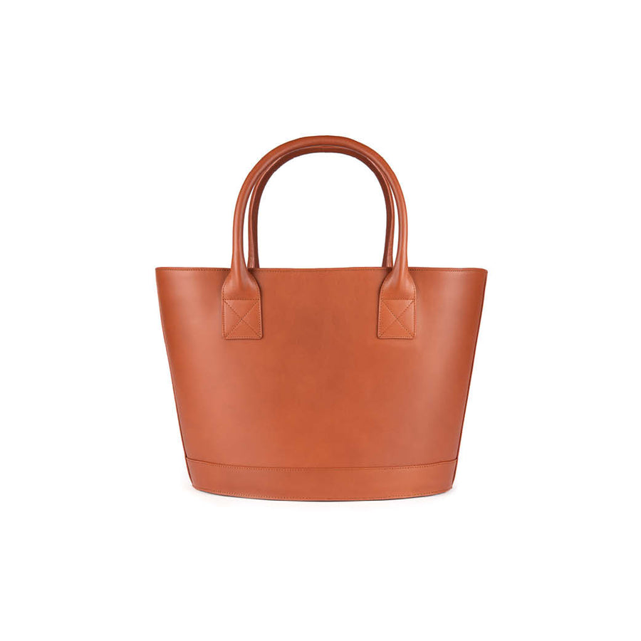 Picnic Tote in Cognac and Montunas