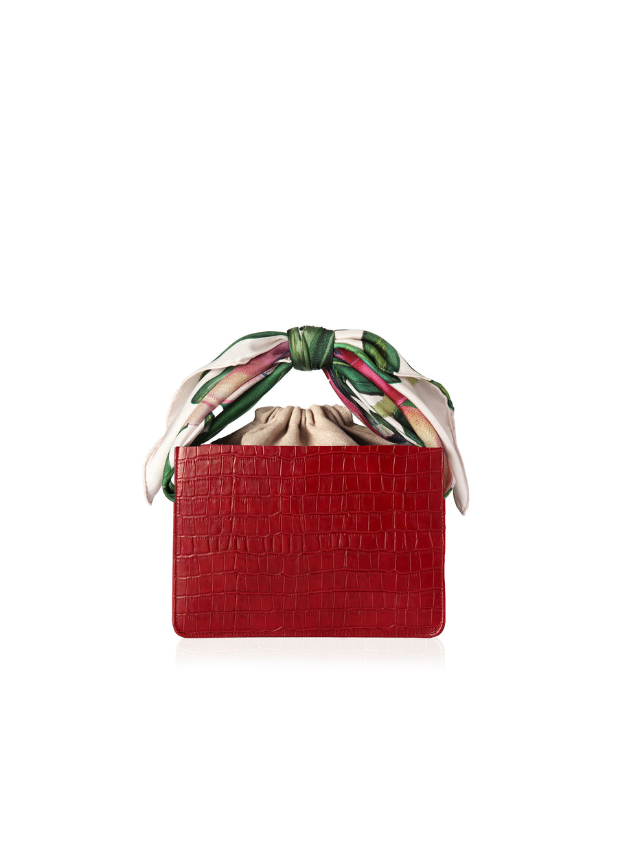 Berry Croc Mini Guaria with Scarf Handle