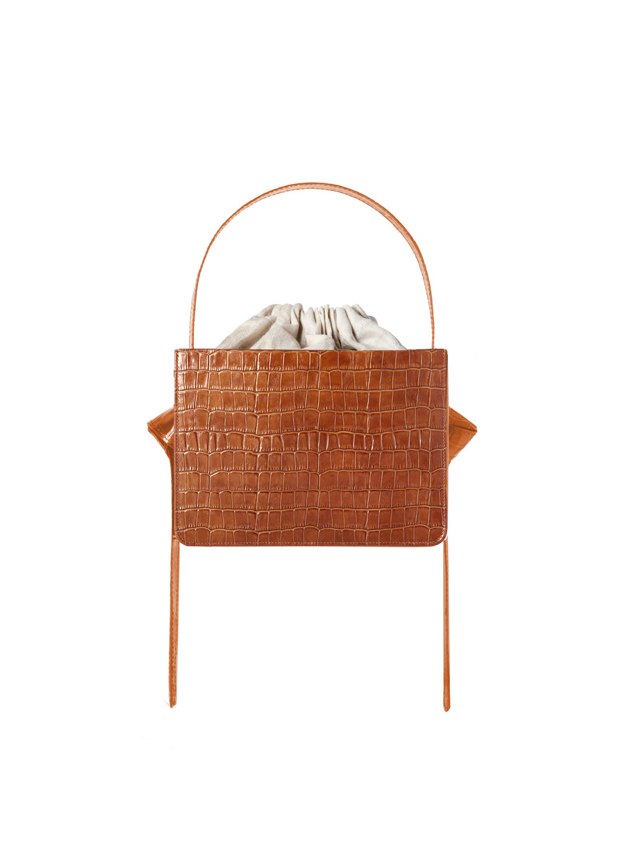 Mini Cognac Croc Guaria