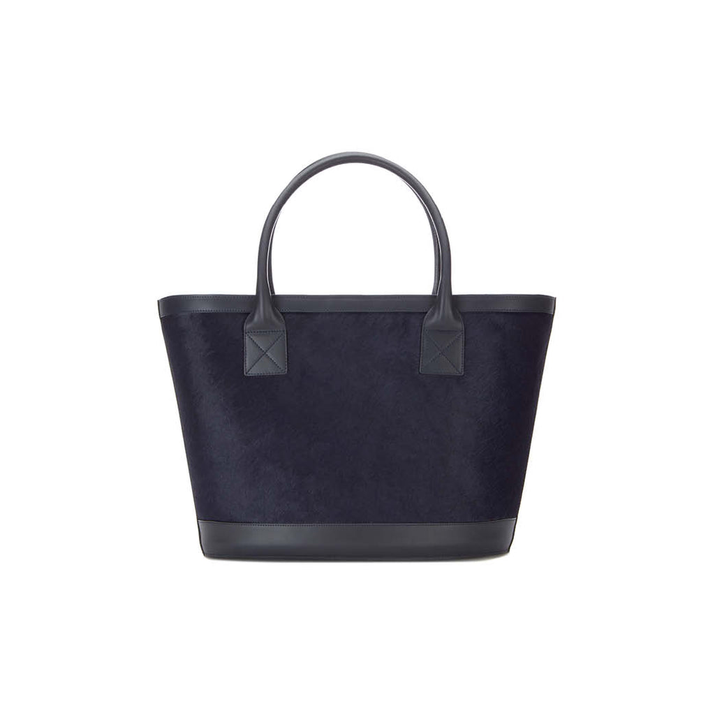 Picnic Tote in Navy Calf Hair