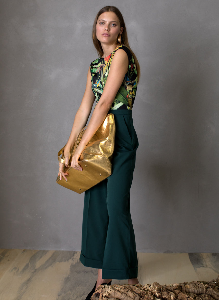 Large Tote in Gold and Montunas