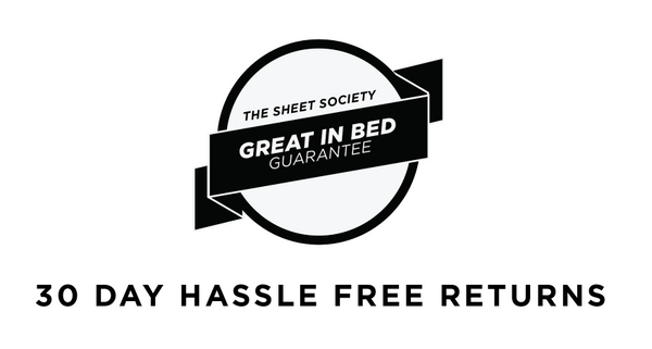 The Sheet Society Great In Bed Guarantee