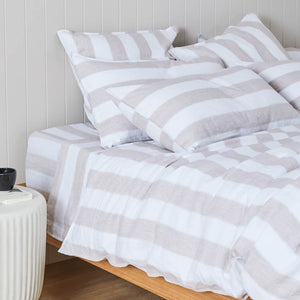 Striped Linen Fitted Sheet - Brooklyn