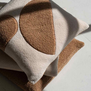 Marloe Shearling European Pillowcases - Beige