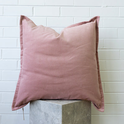 Corduroy European Pillowcase - Blush