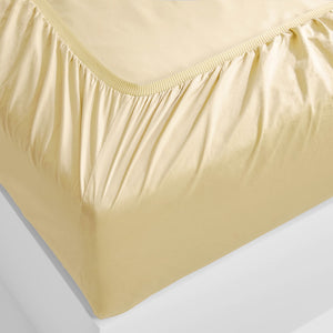 Eden Fitted Sheet - Butter