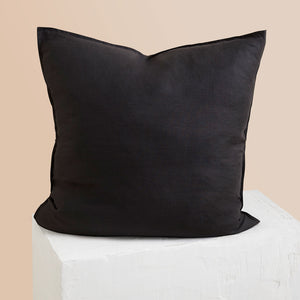Eve Linen European Pillowcase - Black