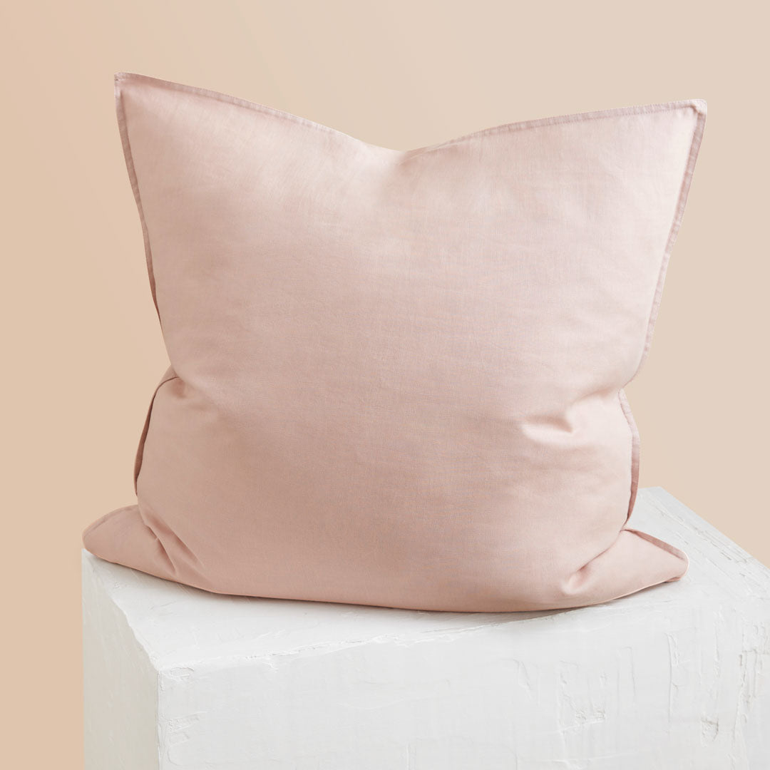 Eve Linen European Pillowcase - Blush
