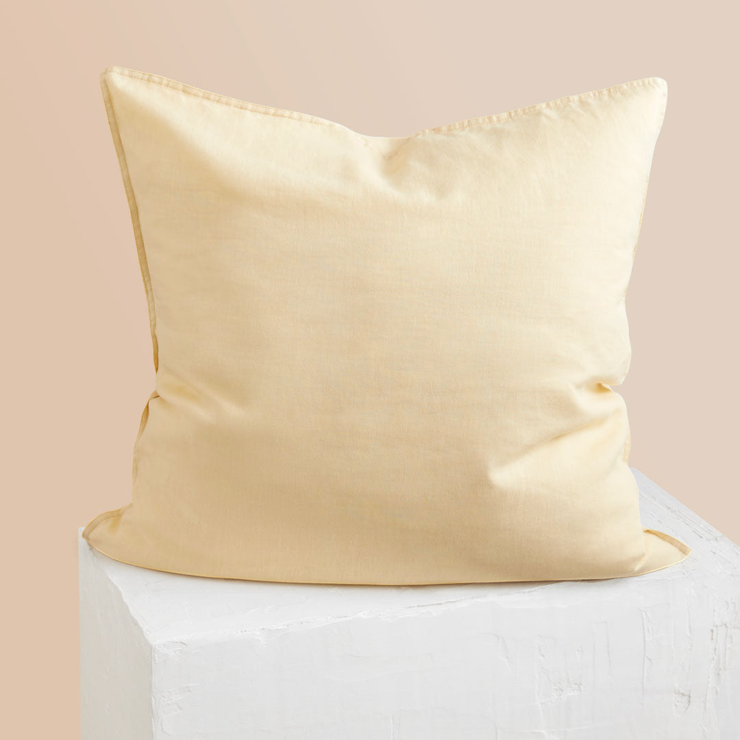 Eve Linen European Pillowcase - Butter