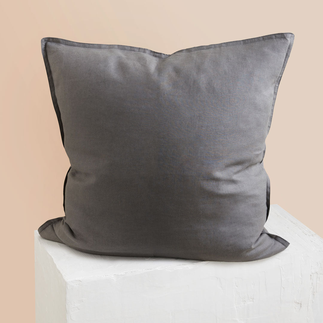 Eve Linen European Pillowcase - Charcoal