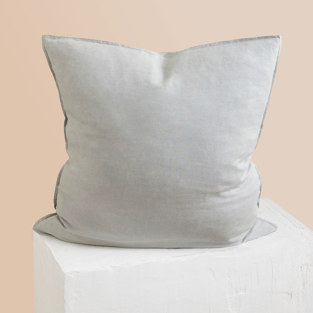Eve Linen European Pillowcase - Dove Grey