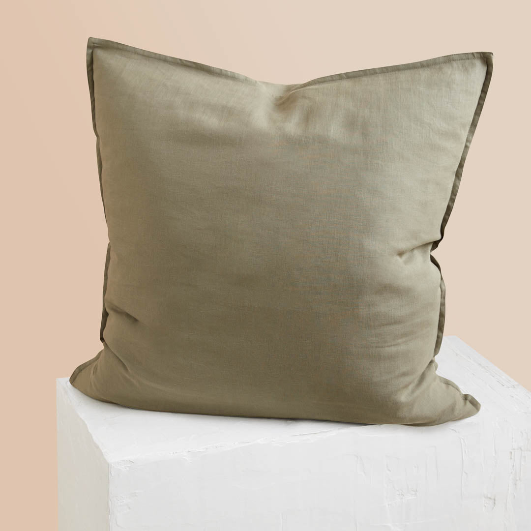 Eve Linen European Pillowcase - Moss