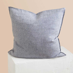Chambray Linen European Pillowcase - Indigo