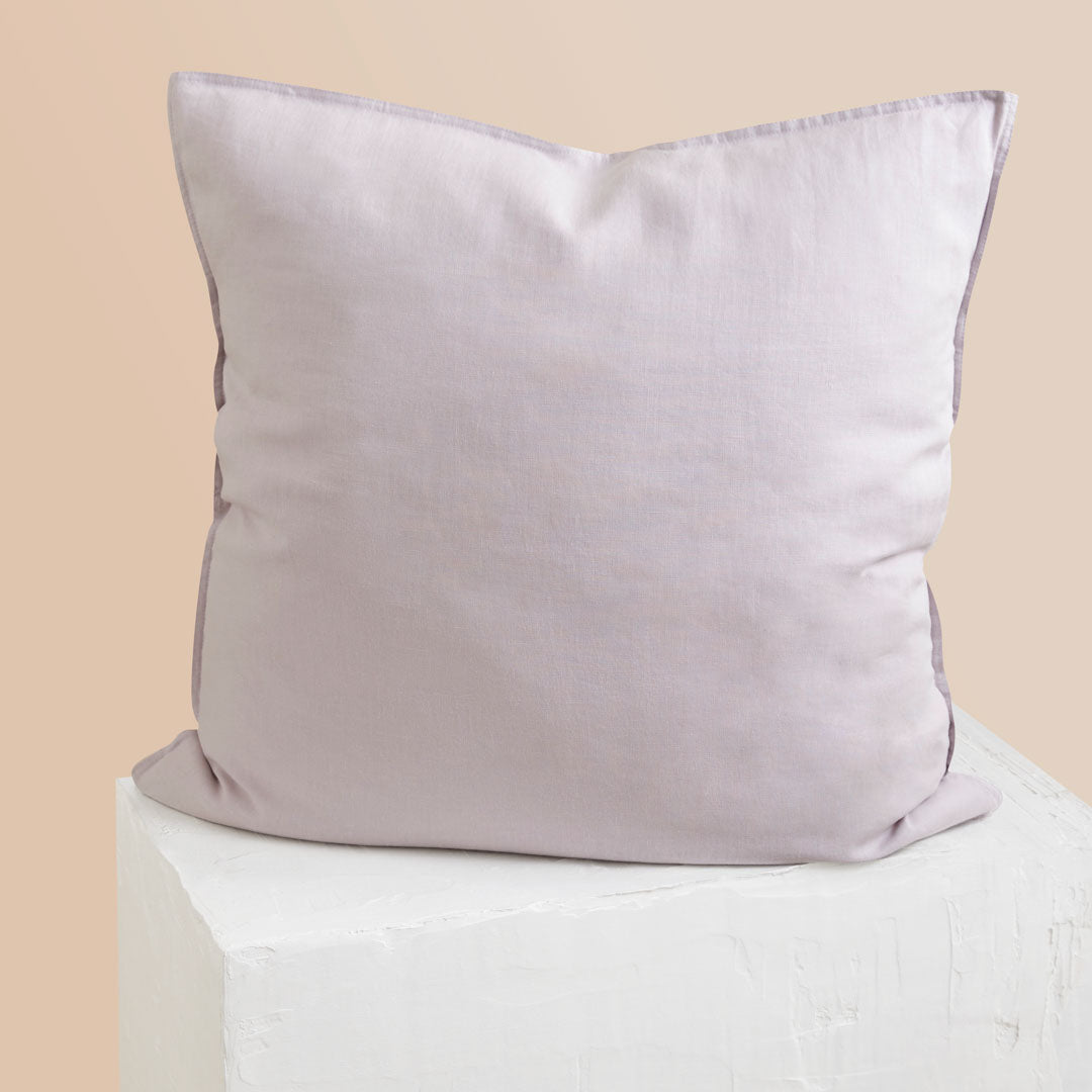 Eve Linen European Pillowcases - Lilac