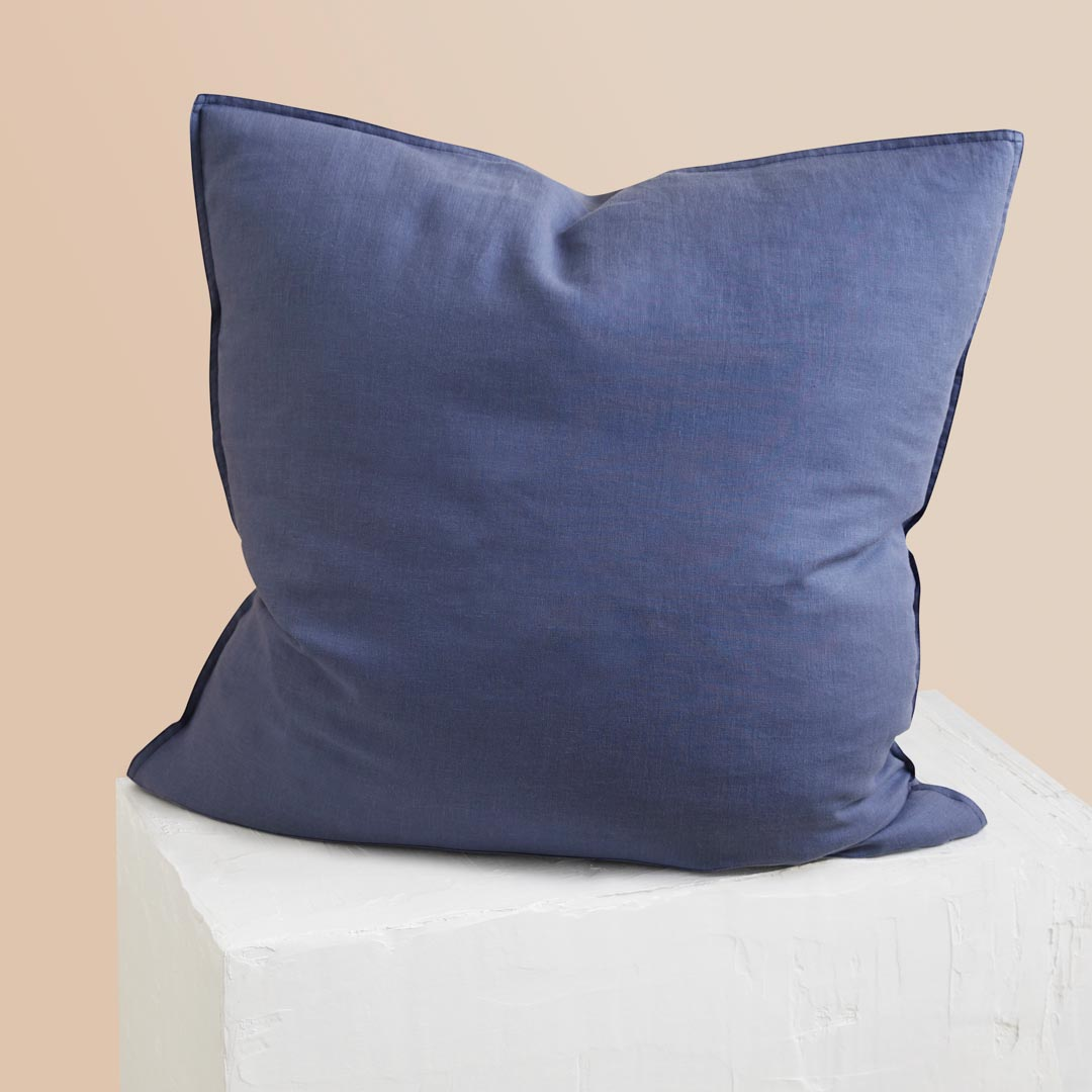 Eve Linen European Pillowcases - Midnight